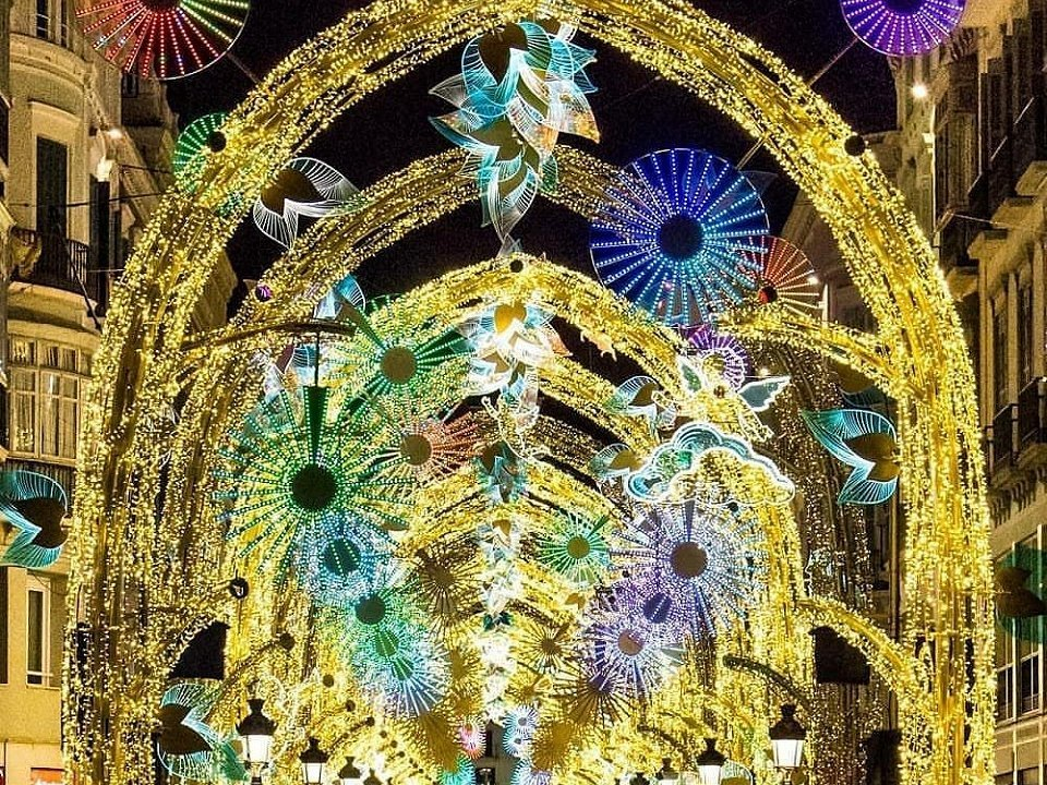 The beautiful lights of Calle Larios in Málaga