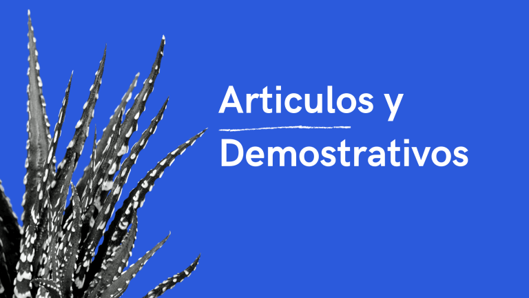 Articulos y demonstrativos