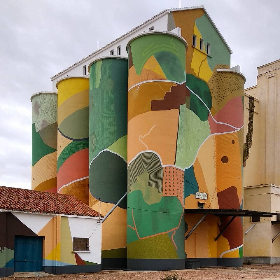 One of Sixeart's pieces in Castilla-La Mancha, Spain