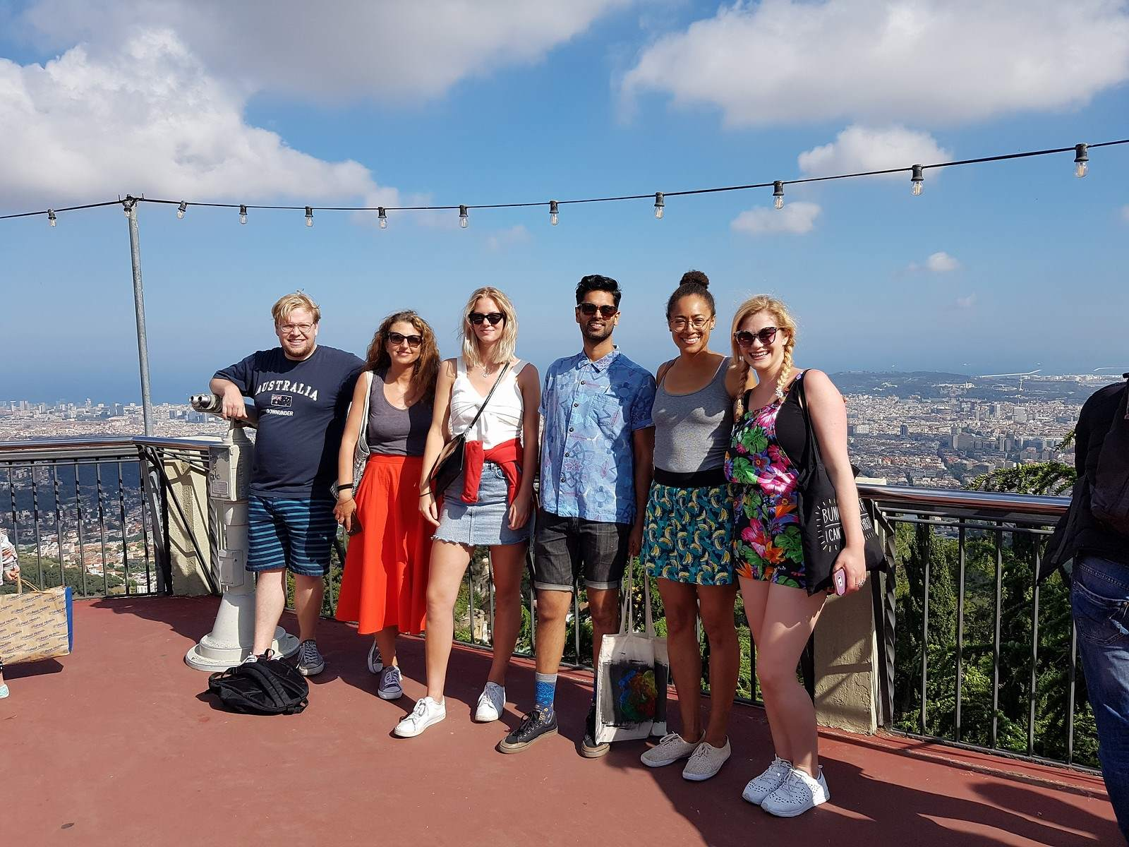 Speakeasy students at tibidabo