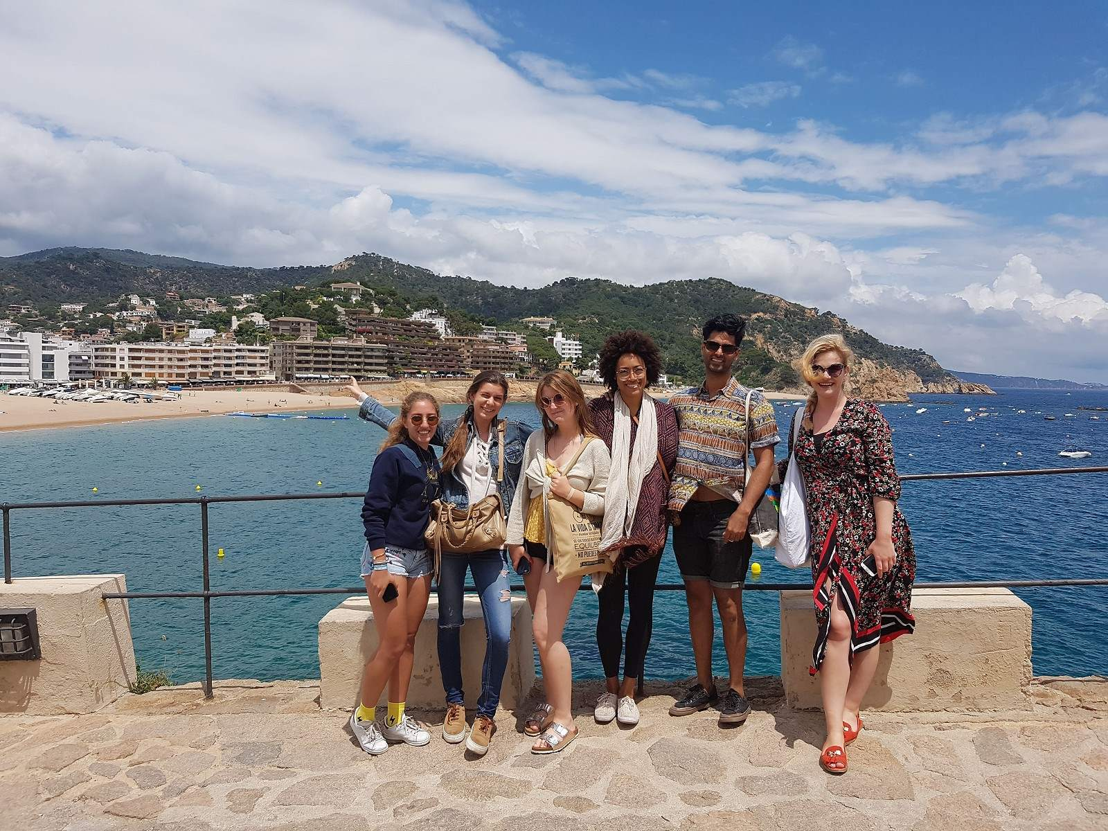 Student group in Sitges